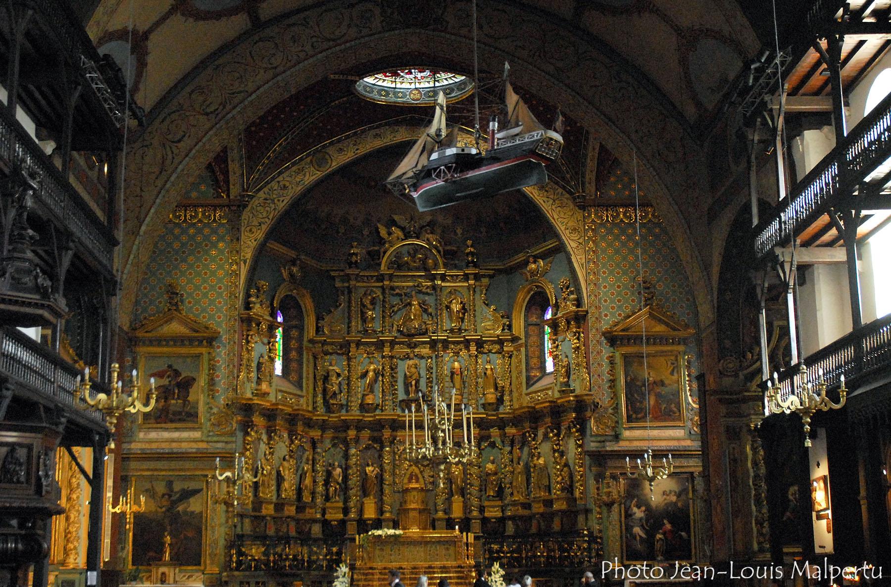 64 saint jean de luz eglise saint jean baptiste ex voto marin - Euskal linge st jean de luz ...